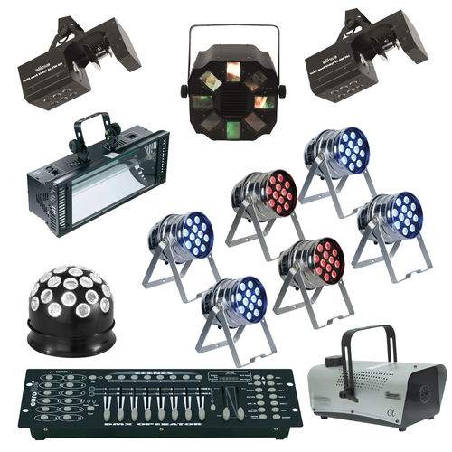 Party XL Komplettset Ton + Licht + Traversen Musikanlage